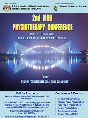 2nd MOH Physiotherapy Conference 2013